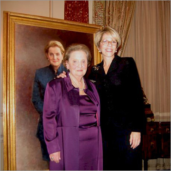 Ann Fader with Madeline Albright