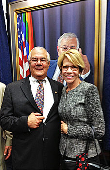 The Honorable Barney Frank with Ann Fader